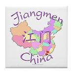 Jiangmen China Map Tile Coaster