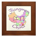 Jiangmen China Map Framed Tile
