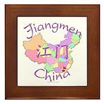 Jiangmen China Map Framed Tile