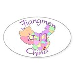 Jiangmen China Map Oval Sticker (10 pk)
