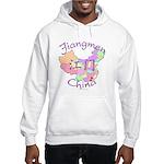Jiangmen China Map Hooded Sweatshirt