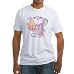 Jiangmen China Map Fitted T-Shirt