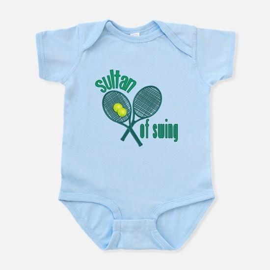 Crossed Tennis Rackets Infant Bodysuit