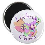 Lechang China Map Magnet