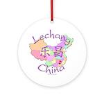 Lechang China Map Ornament (Round)