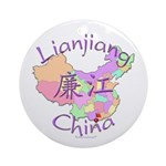 Lianjiang China Map Ornament (Round)
