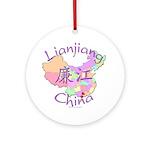 Lianjiang China Map Ornament (Round)