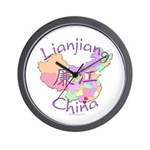 Lianjiang China Map Wall Clock
