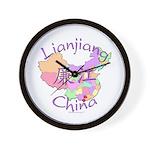 Lianjiang China Map Wall Clock