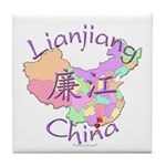 Lianjiang China Map Tile Coaster