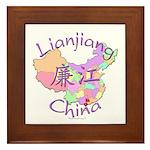 Lianjiang China Map Framed Tile