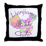 Lianjiang China Map Throw Pillow