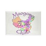Maogang China Map Rectangle Magnet (10 pack)