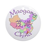 Maogang China Map Ornament (Round)