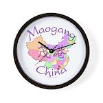 Maogang China Map Wall Clock