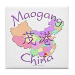 Maogang China Map Tile Coaster