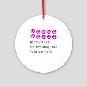 Kitty Brain Haiku Keepsake (Round)