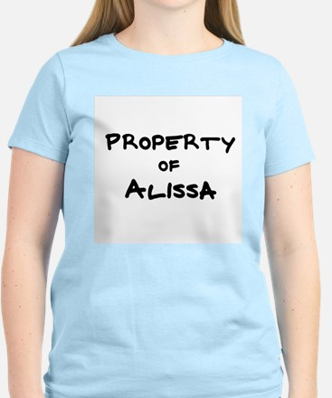 Property of Alissa Women's Pink T-Shirt