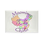 Maoming China Map Rectangle Magnet (10 pack)