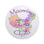 Maoming China Map Ornament (Round)