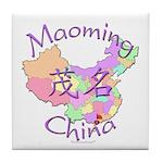 Maoming China Map Tile Coaster