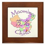 Maoming China Map Framed Tile