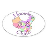 Maoming China Map Oval Sticker (10 pk)