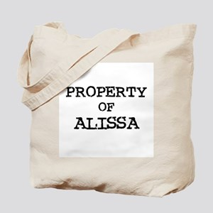 Property of Alissa Tote Bag