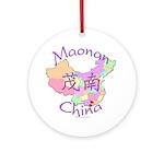 Maonan China Map Ornament (Round)