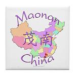 Maonan China Map Tile Coaster
