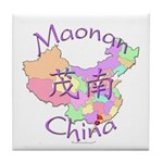 Maonan China Map Tile Coaster