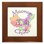 Maonan China Map Framed Tile