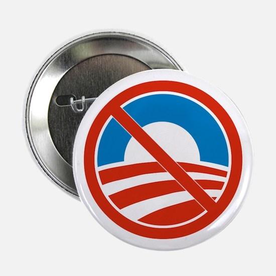 """""""No Obama"""" 2.25-Inch Button"""