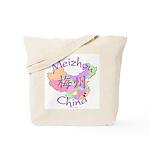 Meizhou China Map Tote Bag