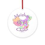Meizhou China Map Ornament (Round)