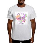 Meizhou China Map Light T-Shirt