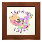 Meizhou China Map Framed Tile