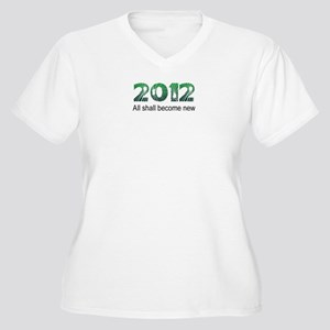 2012 Become New Women's Plus Size V-Neck T-Shirt