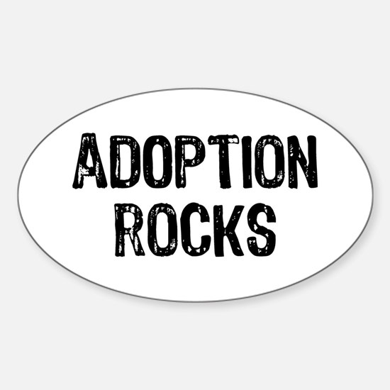 Adoption Rocks Sticker (Oval)