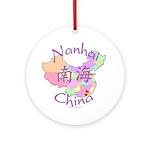 Nanhai China Map Ornament (Round)