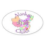Nanhai China Map Oval Sticker (10 pk)