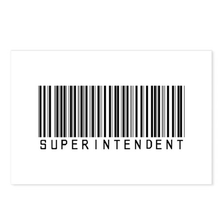 Superintendent Barcode Postcards (Package of 8)
