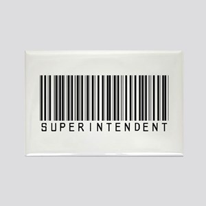 Superintendent Barcode Rectangle Magnet