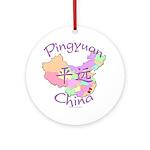 Pingyuan China Map Ornament (Round)