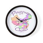 Pingyuan China Map Wall Clock