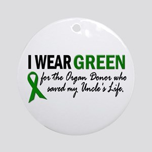 I Wear Green 2 (Uncle's Life) Ornament (Round)