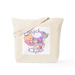 Qingcheng China Map Tote Bag