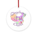 Qingcheng China Map Ornament (Round)