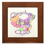Qingcheng China Map Framed Tile
