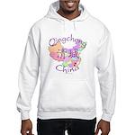 Qingcheng China Map Hooded Sweatshirt